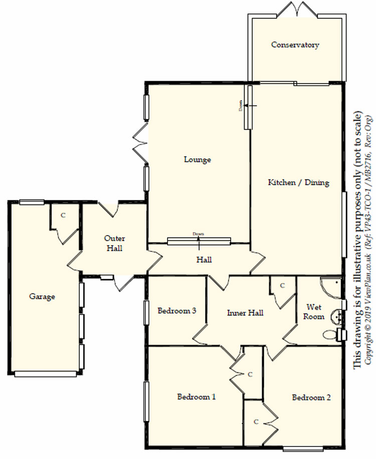 Floorplans For Conway Close, Dinas Powys, CF64 4PF