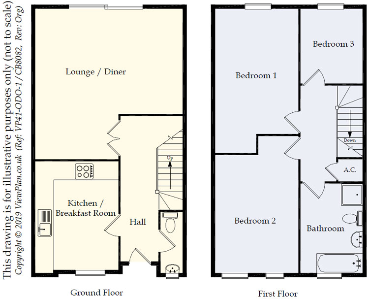 Floorplans For Victoria Mews, Heath, Cardiff, CF14 3DD