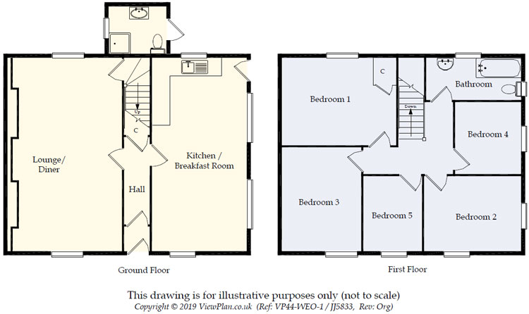 Floorplans For Melin Caiach, Treharris, CF46 5RU