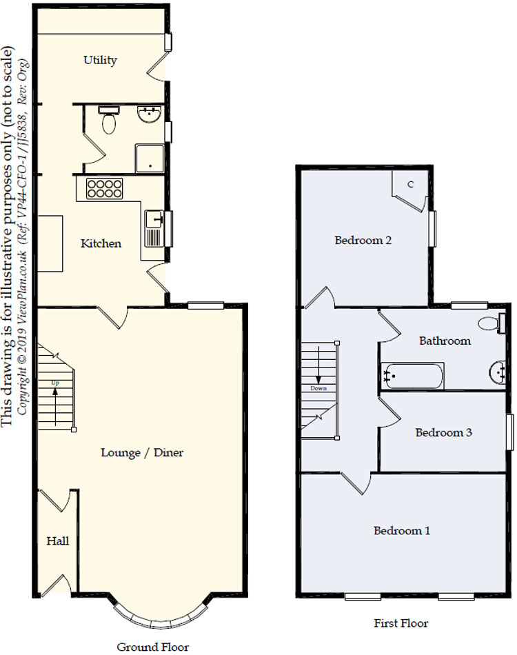 Floorplans For Lewis Street, Ystrad Mynach, Hengoed, CF82 7AQ