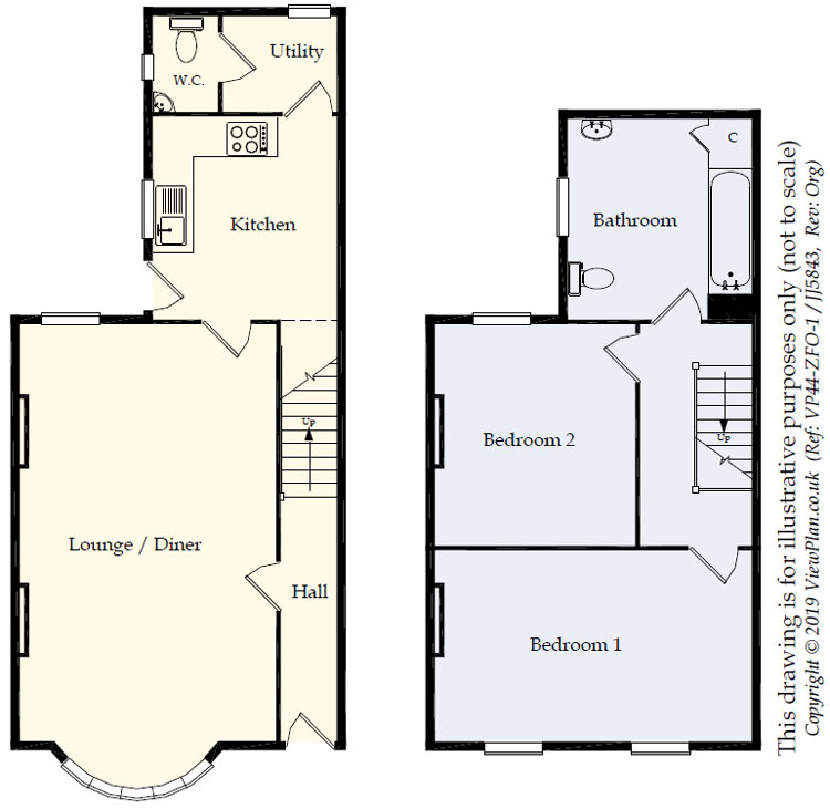 Floorplans For Brynavon Terrace, Hengoed, CF82 7LZ