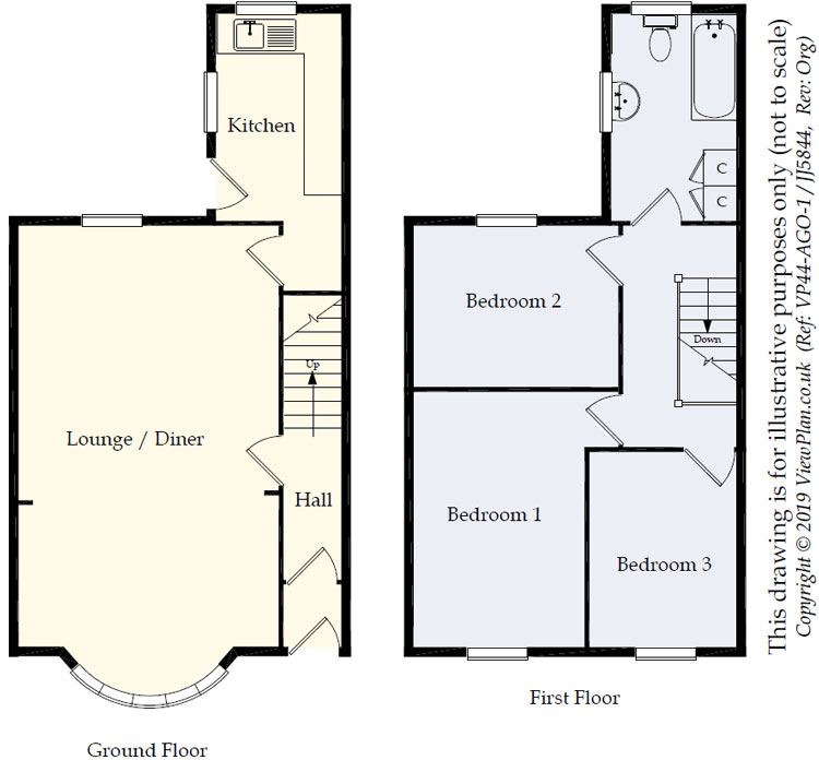 Floorplans For Pengam Road, Ystrad Mynach, Hengoed, CF82 8AA