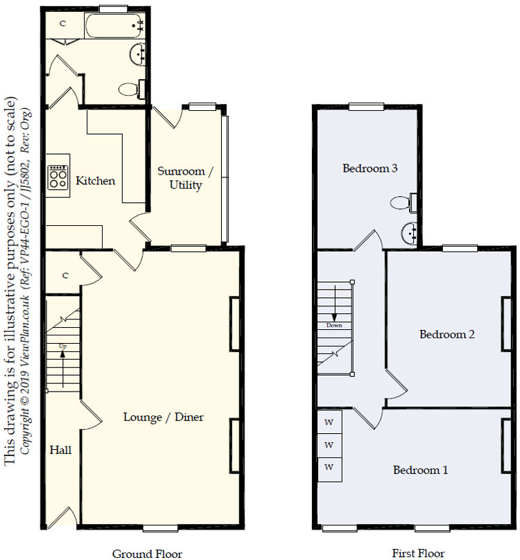 Floorplans For Hengoed Road, Pen-Pedair-Heol, Hengoed, CF82 8BR