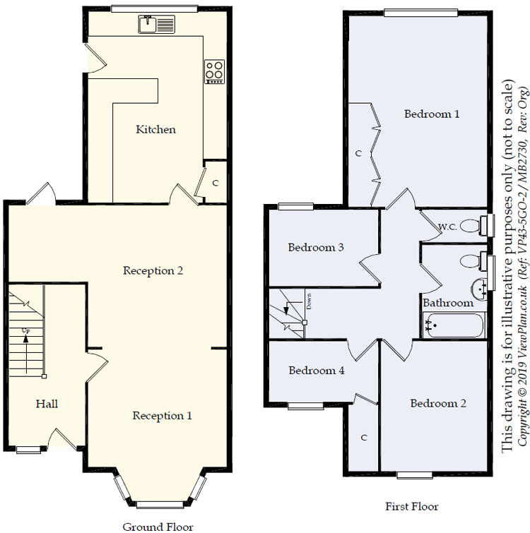 Floorplans For Elm Grove Road, Dinas Powys, CF64 4AB