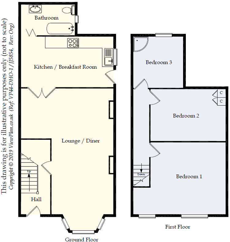 Floorplans For Hylton Terrace, Bedlinog, Treharris, CF46 6RG