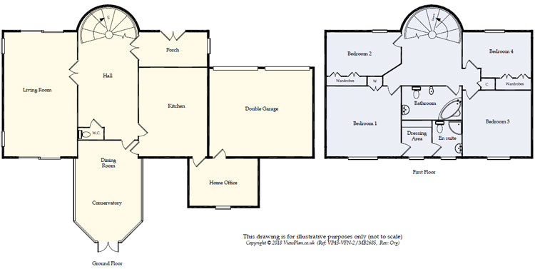 Floorplans For Elm Grove Lane, Dinas Powys, CF64 4AU