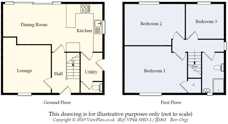Floorplans For Heol Edward Lewis, Gelligaer, Hengoed, CF82 8EH