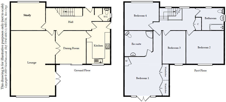 Floorplans For Walston Close, Wenvoe, Cardiff, CF5 6AS