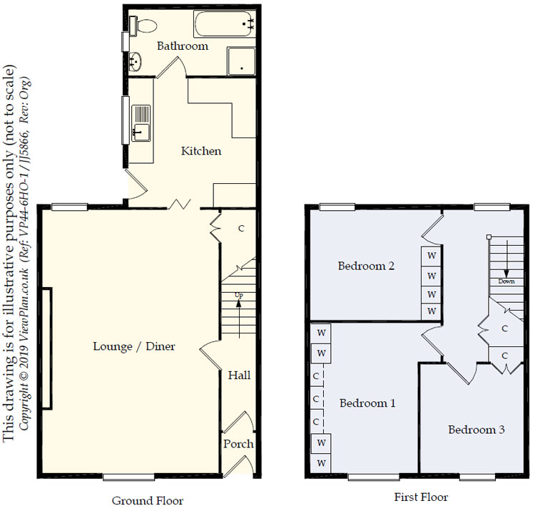 Floorplans For Llancayo Street, Bargoed, CF81 8TD
