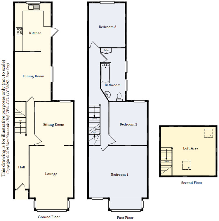 Floorplans For Moorland Road, Splott, Cardiff, CF24 2LF