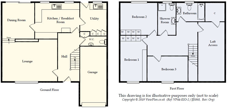 Floorplans For Gellideg Heights, Maesycwmmer, Hengoed, CF82 7RL