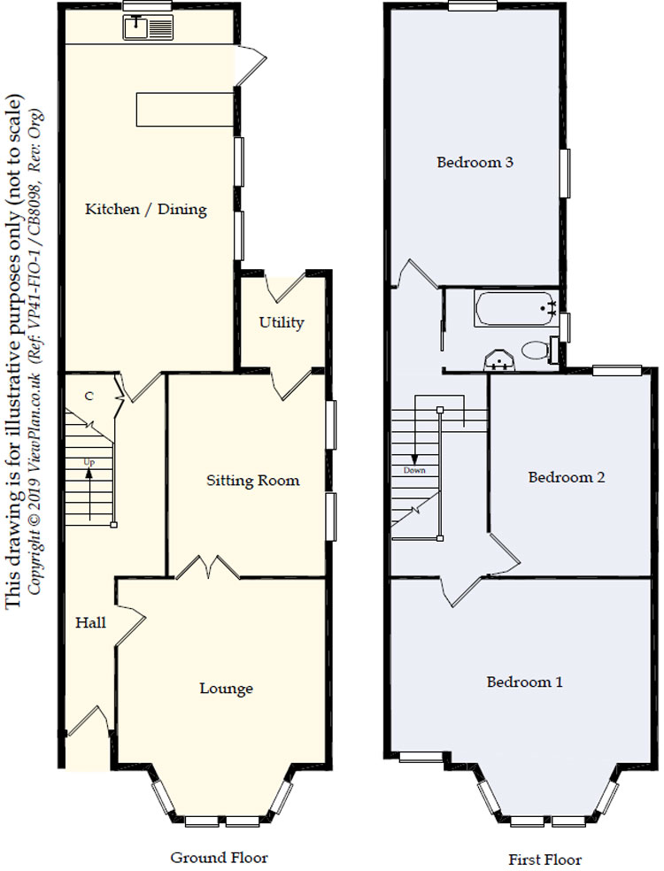 Floorplans For Donald Street, Roath, Cardiff, CF24 4TR