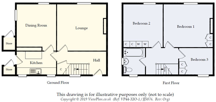 Floorplans For Pant-y-Celyn Street, Ystrad Mynach, Hengoed, CF82 7BN