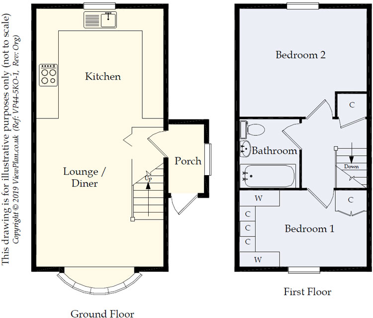 Floorplans For Springfield Road, Maesycwmmer, Hengoed, CF82 7QP