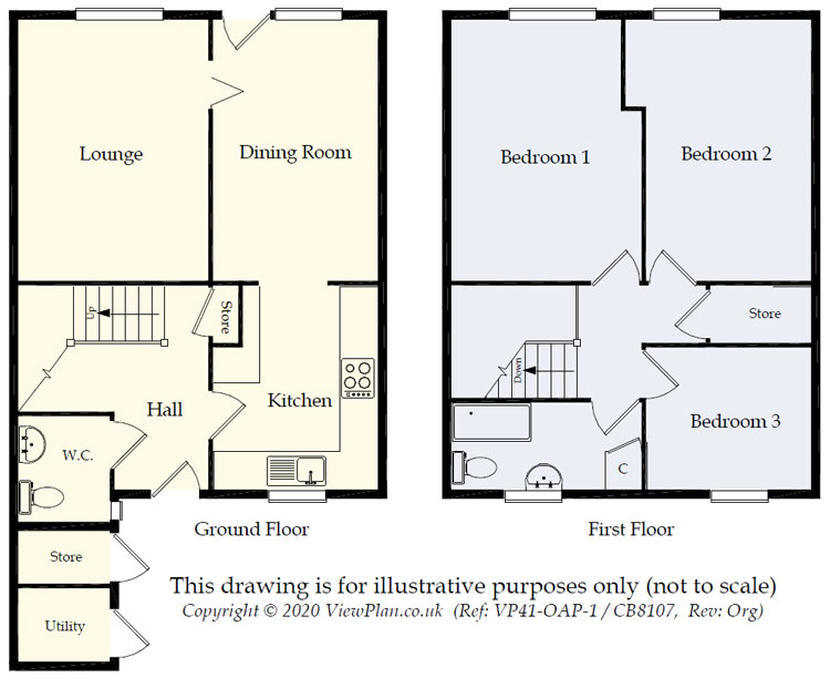 Floorplans For Pennsylvania, Llanedeyrn, Cardiff, CF23 9LQ