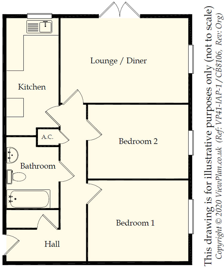 Floorplans For Redwell Court, Ty-Gwyn Road, Penylan, Cardiff, CF23 5AZ