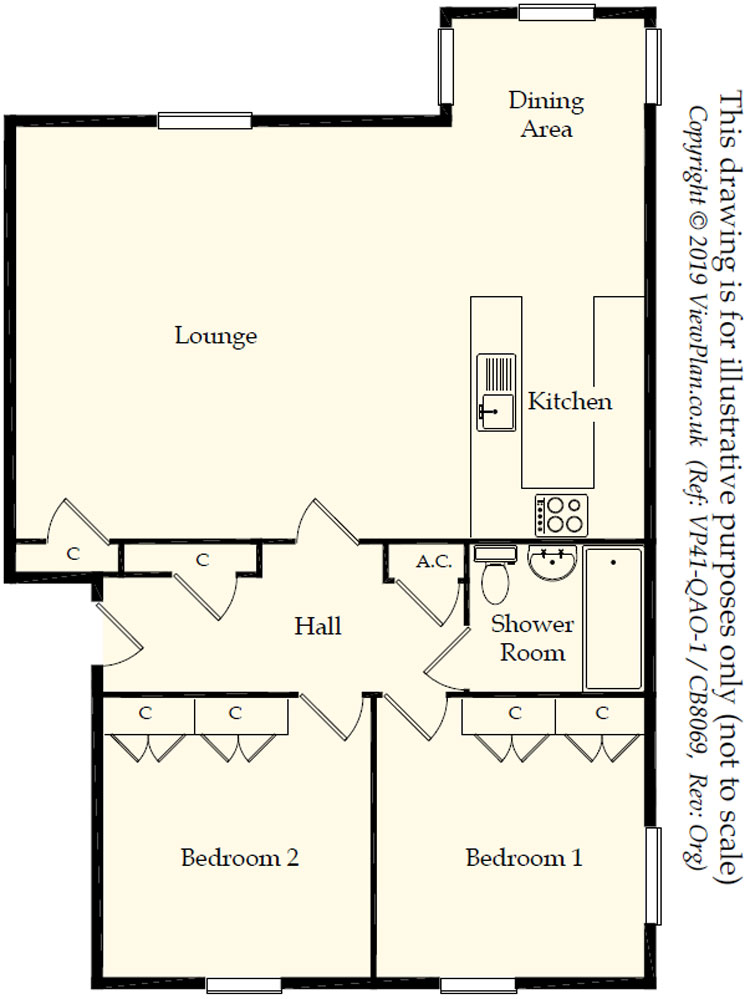 Floorplans For Gwynedd House, Glenside Court, Tygwyn Road, Penylan, Cardiff, CF23 5JU