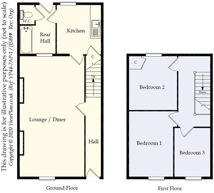 Floorplans For Fox Street, Treharris, CF46 5HE