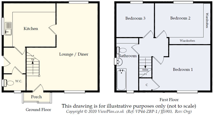 Floorplans For St. Cattwgs Avenue, Gelligaer, Hengoed, CF82 8FD