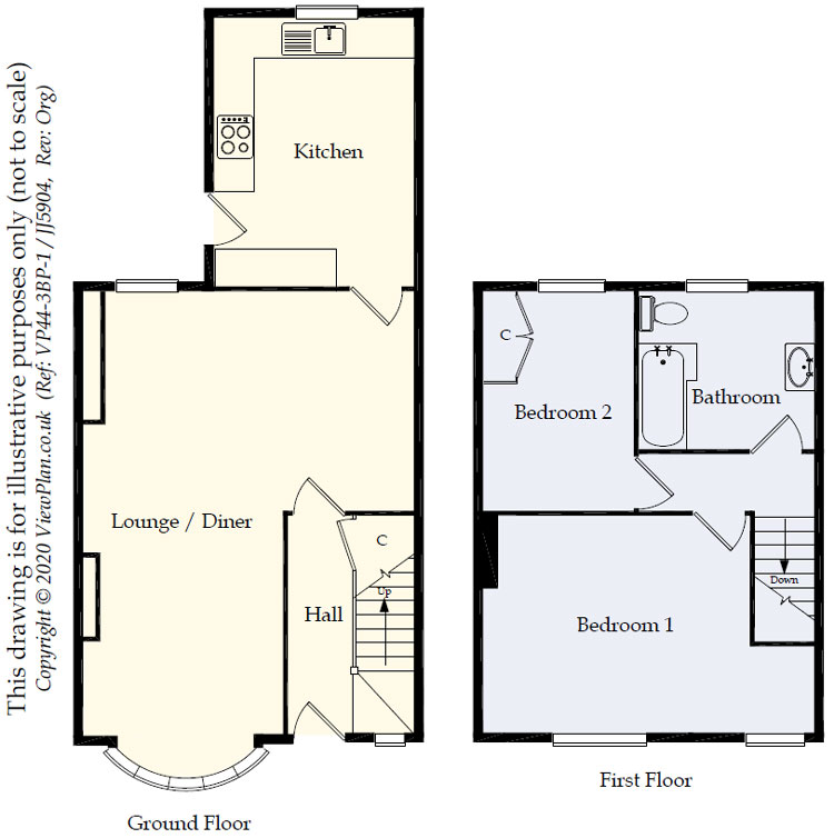 Floorplans For Station Road, Ystrad Mynach, Hengoed, CF82 7AT