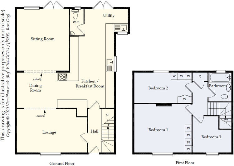 Floorplans For Bryngerwyn Avenue, Treharris, CF46 5DE