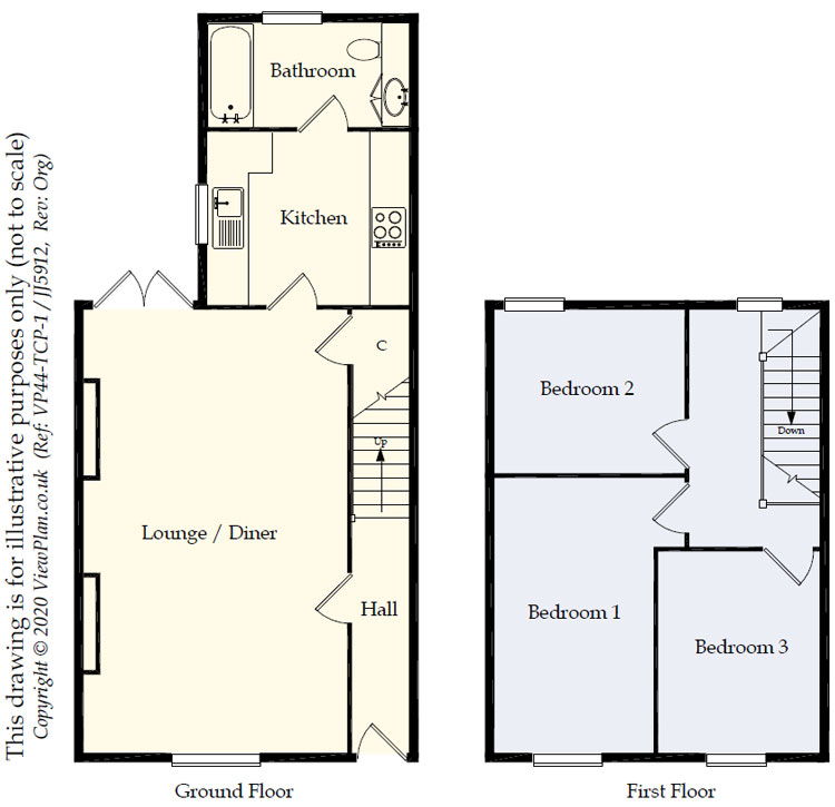 Floorplans For Central Street, Ystrad Mynach, Hengoed, CF82 7AR