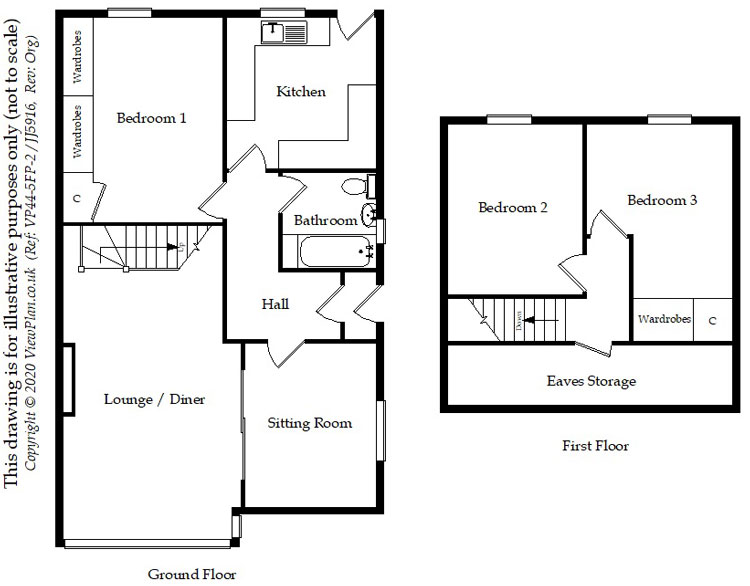 Floorplans For Hadrians Close, Gelligaer, Hengoed, CF82 8DU
