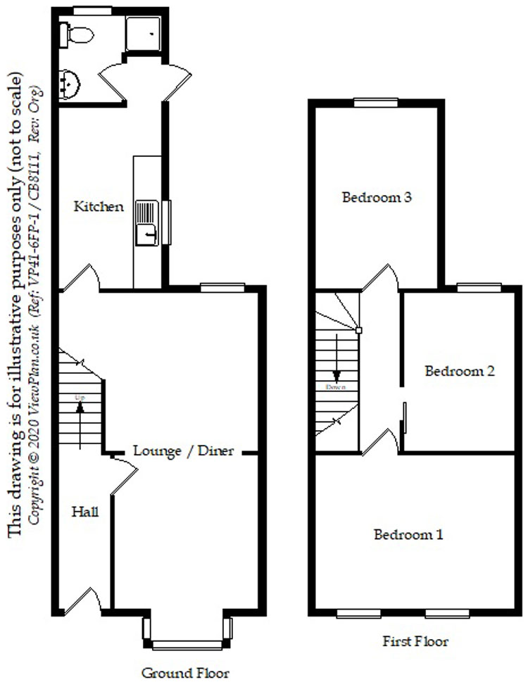 Floorplans For Upper Kincraig Street, Roath, Cardiff, CF24 3HB