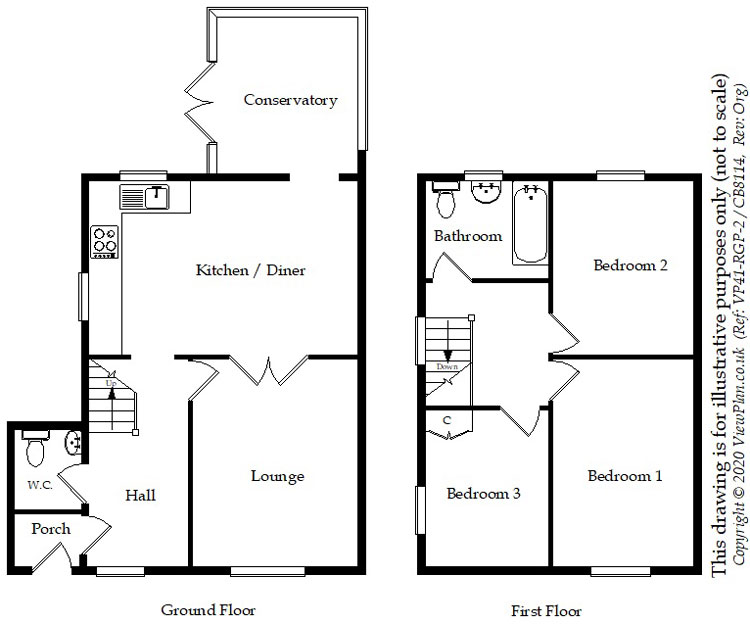 Floorplans For Roundwood Close, Penylan, Cardiff, CF23 9HH