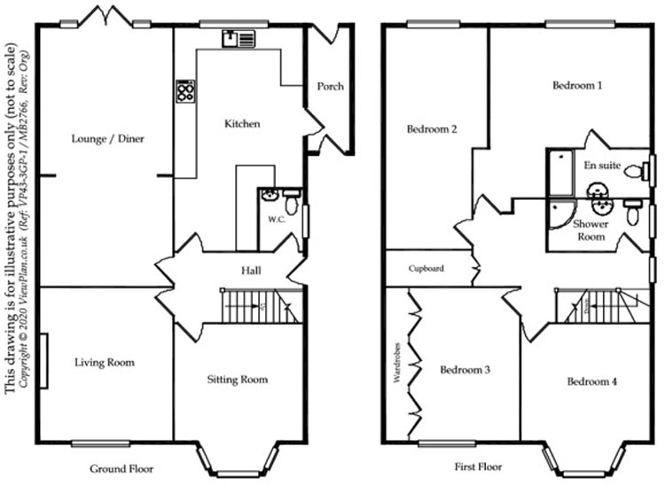 Floorplans For Murch Road, Dinas Powys, CF64 4RD