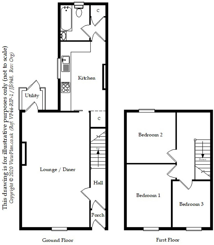 Floorplans For Gresham Place, Treharris, CF46 5AF
