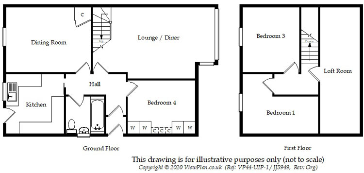 Floorplans For Julians Close, Gelligaer, Hengoed, CF82 8DT