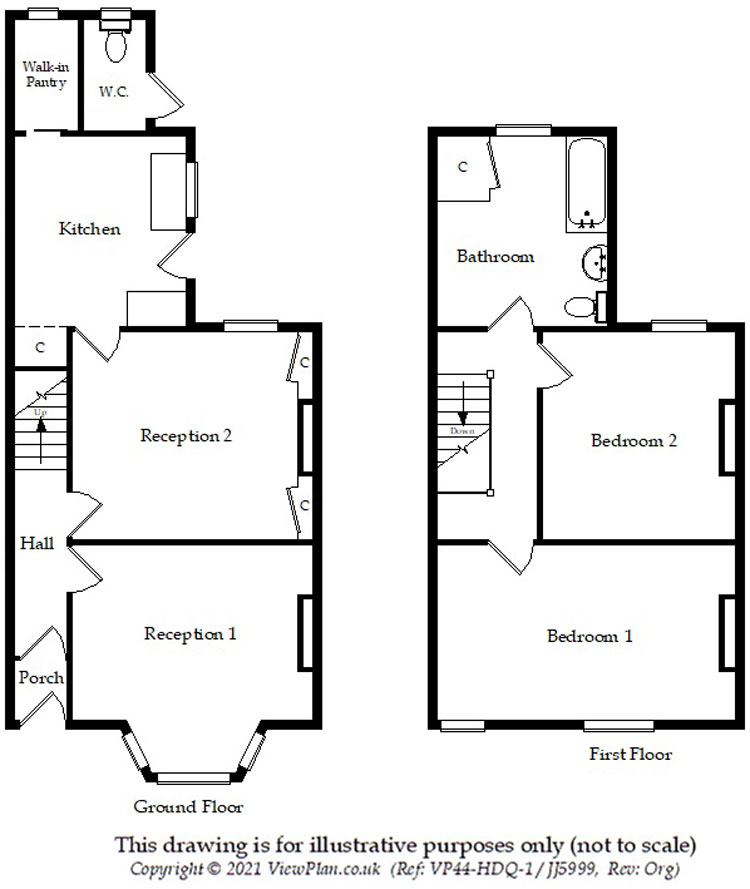 Floorplans For Brynavon Terrace, Hengoed, CF82 7NA