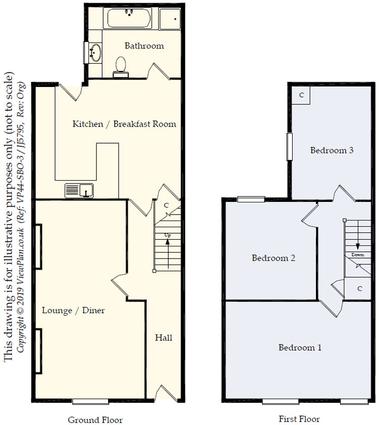 Floorplans For Pleasant View, Bedlinog, TREHARRIS, CF46 6SF