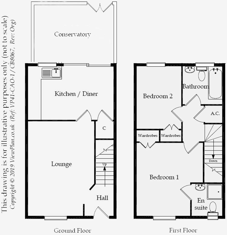Floorplans For Locke Grove, St. Mellons, Cardiff, CF3 0PX